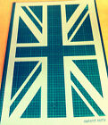 Union Jack British Flag STENCIL for interior decor Various sizes / Not a Decal