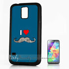( For Samsung S4 S5 ) Back Case Cover A10175 I Love Mustache