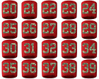 #20-39 Number Sweatband Wristband Baseball Lacrosse Softball Red Camo Camouflage