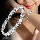 Fashion Women Charm Bracelet Crystal Bead Wedding Bracelets & Bangles Jewelry