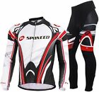 Mens Bicycle Jackets Sets 4D Padded Mountain Bike Trousers Outdoor Sports Tops