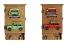 Wooden Wall Mounted Key Box Rack Hooks Cupboard Red & Green Cabinet Storage New