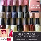 Miss Gel Pro UV Gel Nude Mauve pink Natural Cherry Red FREE lamp with 10 Colours