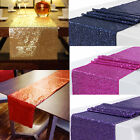 Us Sequin Satin Table Runner 30x300cm Glitter Wedding Party Banquet Venue Decor