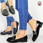 Womens Ladies Studded Flat Loafers School Work Formal Rock Slip On Shoes Size