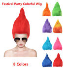 Adult Troll Style Festival Party Colourful Elf Pixie Wig Hair Cartoon Cosplay  image