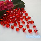 10mm 4CT Red Acrylic Diamond Confetti Wedding Party Crystals Table Scatters