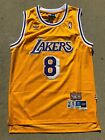 NWT Kobe Bryant 8 Los Angeles Lakers Yellow Retro Throwback Jersey Stitched Men