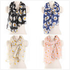 Fresh Chrysanthemum Print Soft Women's Long Scarves Wraps Shawl Scarf , 4 Color