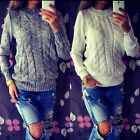 Women Long Sleeve Loose Sweater Knitted Cardigan Coat Jacket Outwear Casual New