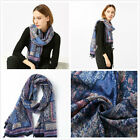 "Colorful Tassel Floral Print Soft Women's Long Scarves Wraps Shawl Scarf 71""*39"""