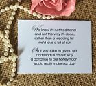 Wedding Gift Money Poem Small Cards Asking For Money Cash For Diy Invitations