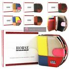 LADIES NEW STITCH DETAILING MULTICOLOUR MATTE REAL LEATHER BIFOLD WALLET PURSE