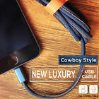 Cowboy Jean Charging Facts Cable For Android Micro USB2.0 &IOS Lightning iPhone 7