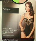 M&S AUTOGRAPH UNDERWIRED EMBROIDERED BODY BLACK  MARKS SPENCER