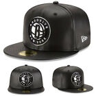 New Era NBA Brooklyn Nets 5950 Fitted Hat Black Team Faux Leather NBA Game Cap on eBay