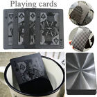 PVC Waterproof Black Plastic Poker Playing Cards Table Game Magic Stylish Gift