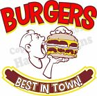Burgers DECAL (Choose Your Size) Retro Food Truck Restaurant Concession Vinyl