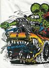 Rat Fink Ed Roth Car Eater 1956 Ford white t shirt tee size S