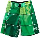 BILLABONG BOARDSHORTS *** BOX OUT FRED VON OST ***  GREEN W30 W31 SURFSHORTS