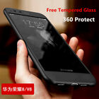 360° Shockproof Hybrid Hard + Tempered Glass Case Cover For Huawei GR5 2017