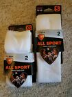 NEW ALL SPORT Team Sofsole White Socks Youth XS  5-9.5 S 10-