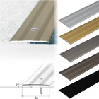 FLAT ANODISED ALUMINIUM DOOR FLOOR BAR-TRIM-THRESHOLD-35mm    A08
