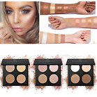 Damen Gesicht Highlighter Bronzer Palette Lidschatten Kontur Make-up Pulver