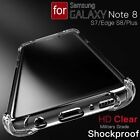 Crystal Clear Phone Case for Samsung Galaxy Note 8 S8 S7 Slim TPU Cubierta Thin