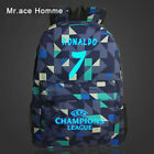 Real Madrid School Backpack Bag For Boys Cristiano Ronaldo Youth And kids Canvas