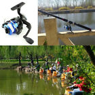 2.1M-3.6M Fishing Rod Spinning Fishing Reel Carbon Telescopic Tackle Kit New