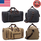 Unisex Canvas Travel Tote Business Trip Holiday Travel Sports Duffle Zipper Bag