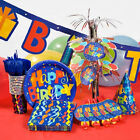 """7-piece Whimsy """"Happy Birthday"""" Confetti Party Decoration Kit for 16 or 32 Guest"""