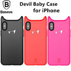 Baseus Cute Devil Baby Case For iPhone X 8 7+ Soft Full Protective Silicon Cover