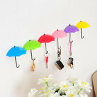 3Pcs Color Umbrella Shape Wall Stick Hook Key Holder Organizer Decor Hanger New