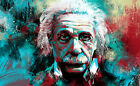 Albert Einstein Psychedelic  Vintage Art Poster| SIZES A4 to A0 UK SELLER | E048