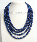 "AMAZING 80"" 9MM round blue nautral pearls necklace b1319"