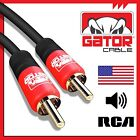 1RCA Male Dual Shielded Subwoofer Audio RCA Composite Digital Cable Gold Plated