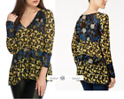FREE PEOPLE XS Isabelle Floral Print Top Onyx C New Tags tg