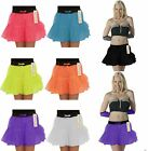 Girls 2 Layers Tutu Skirt Novelty Neon Colors With Ribbon tutu Skirt Party Skirt