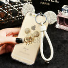Bling Diamond Crystal Ears Soft TPU Case + Strap Cover For Samsung Galaxy Note 8