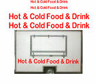 Hot & Cold Food & Drink, Burger Van Stickers, Catering Trailer, Cafe, Catering.