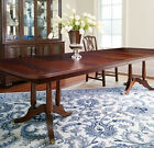 Thomasville Furniture Soliloque Mahogany Double Pedestal Dining Table w 3 Leaves
