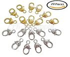 20 pieces Heart Shape Lobster Claw Clasps DIY Jewelry Findings GOLD/SILVER