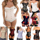 Women Fashion Steampunk Corset Bustier Basque Burlesque Lingerie Top Plus Size