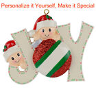 MAXORA JOY Family of 2 3 4 5 6 7 Personalized Christmas Tree Ornament 2019