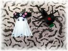 One Adorable Halloween Ribbon Sculptured Ghost or Spider Hair Clip