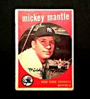 1959  TOPPS   MICKEY  MANTLE   NEW  YORK  YANKEES  CARD  # 10