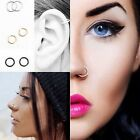 Fake Piercing Small Thin Ear Nose Lip Septum Ring Hoop Cartilage Tragus Helix