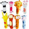 Practical Soft Animal Plush Sound Handbells Squeeze Rattle For Newborn Baby Toy